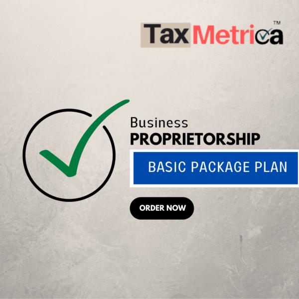 Proprietorship Registration Basic Plan